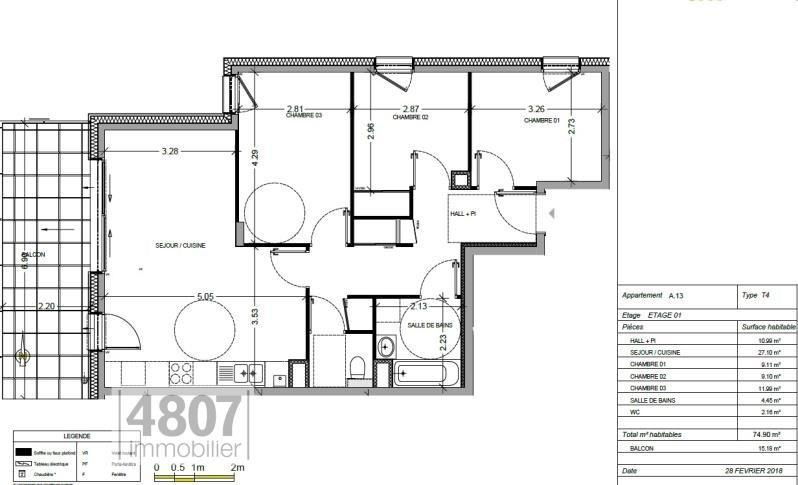 Vente appartement Annemasse 342000€ - Photo 1