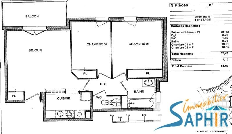 Vente appartement Blagnac 145000€ - Photo 2