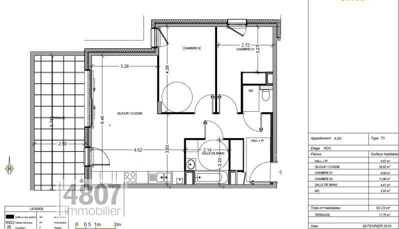 Vente appartement Annemasse 289000€ - Photo 1