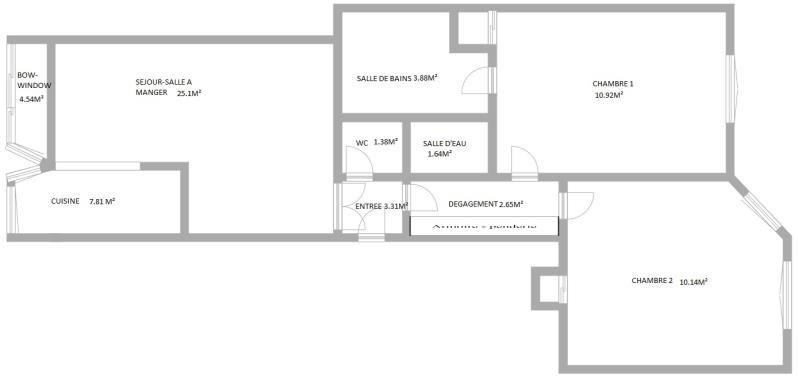 Vente appartement Puteaux 475000€ - Photo 2