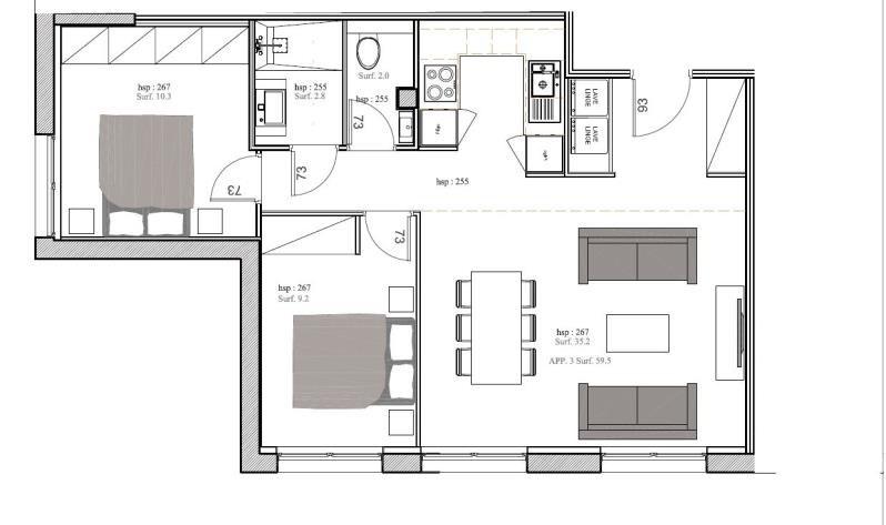 Vente appartement Bois le roi 219000€ - Photo 1