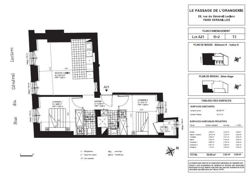Sale apartment Versailles 584000€ - Picture 2