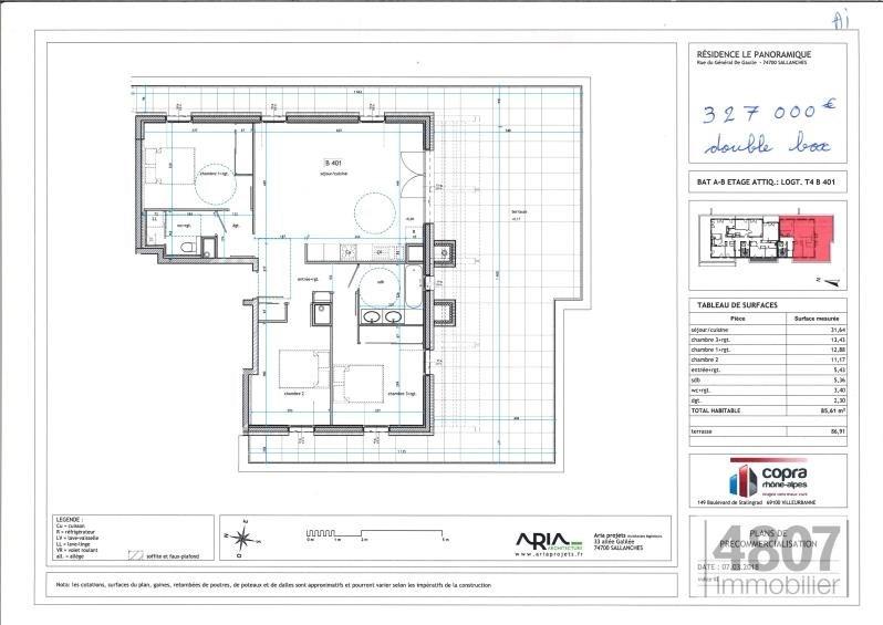 Vente appartement Sallanches 327000€ - Photo 3