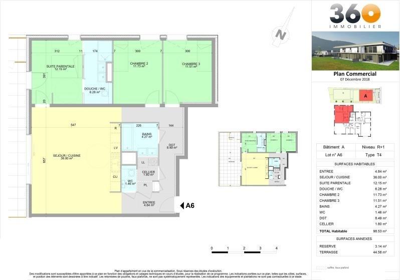 Vente appartement Brison st innocent 520000€ - Photo 5