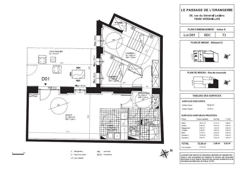 Sale apartment Versailles 920000€ - Picture 2