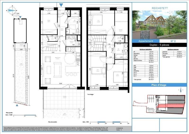 Sale apartment Reichstett 338000€ - Picture 2