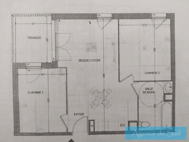 Vente appartement Aubagne 225000€ - Photo 1