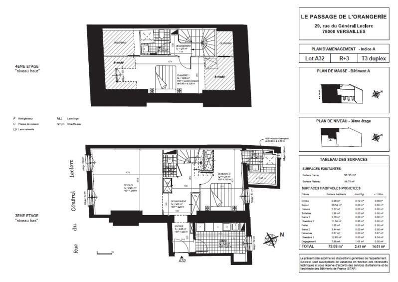 Sale apartment Versailles 809000€ - Picture 2