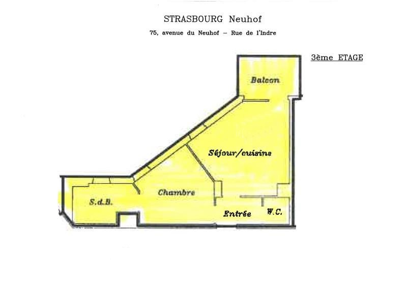 Investment property apartment Strasbourg 125000€ - Picture 3