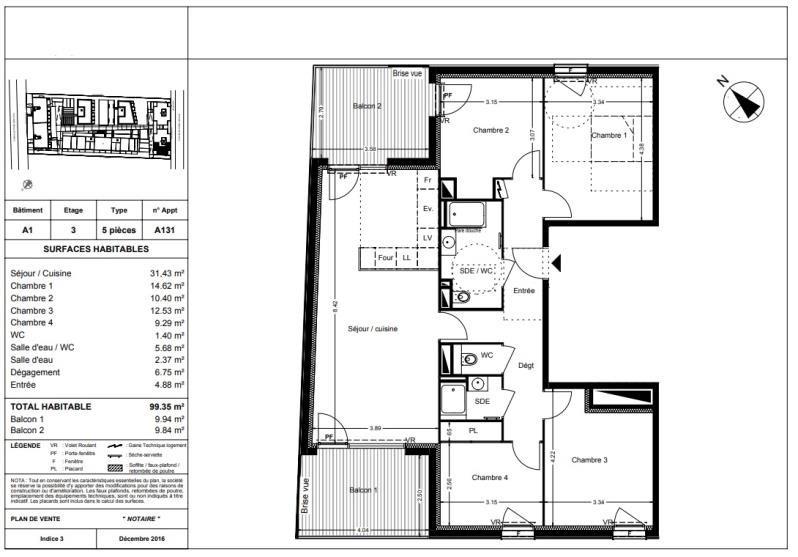 Vente appartement Balma 315000€ - Photo 10
