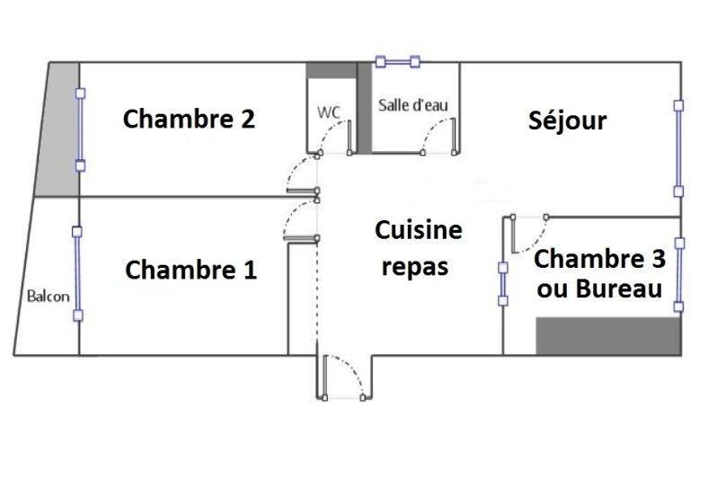Vente appartement Paris 18ème 595000€ - Photo 7