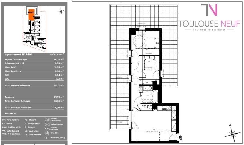 Vente appartement Toulouse 262000€ - Photo 5