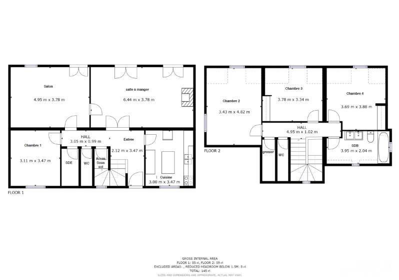 Venta  casa Kervignac 216500€ - Fotografía 9
