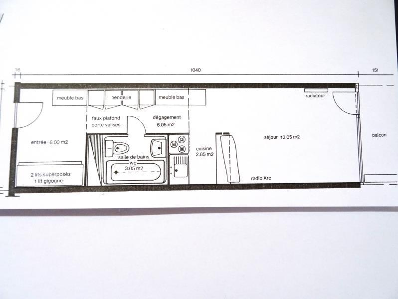 Vente appartement Les arcs 135000€ - Photo 6