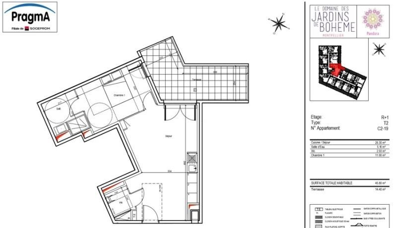 Location appartement Montpellier 725€ CC - Photo 2