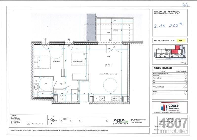 Vente appartement Sallanches 216500€ - Photo 2