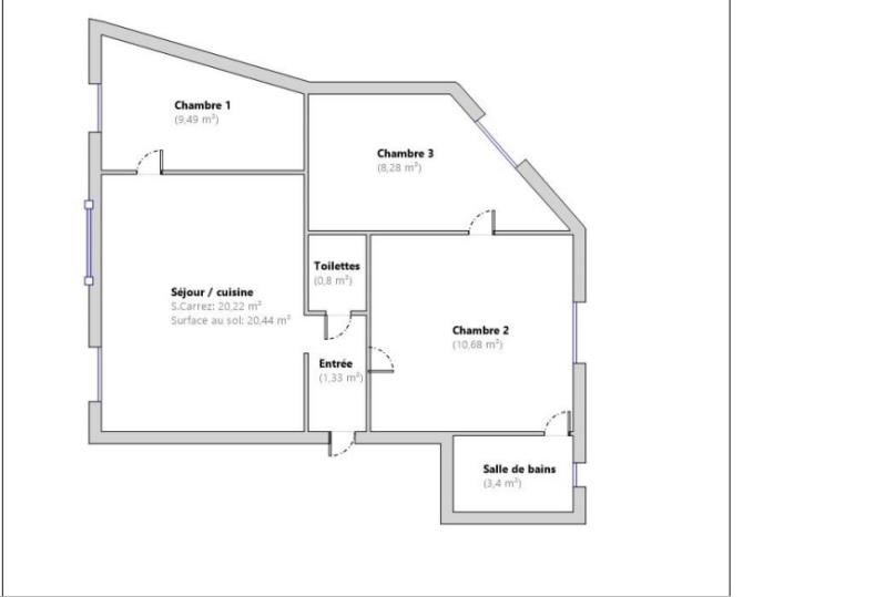 Sale apartment St maur des fosses 236000€ - Picture 3