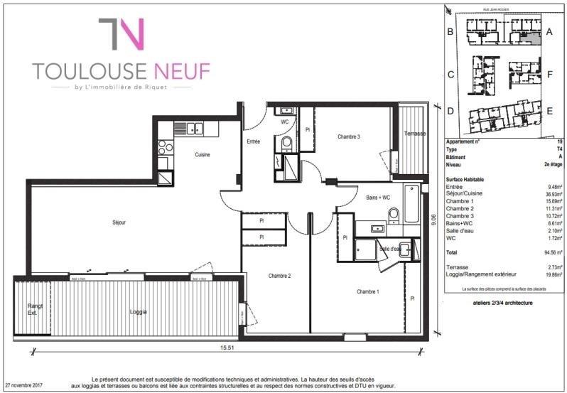 Vente appartement Toulouse 268900€ - Photo 5