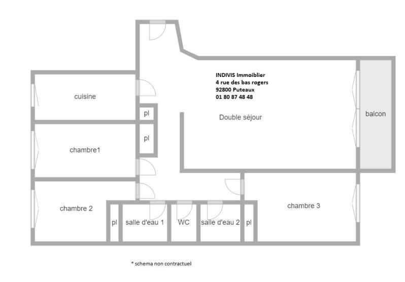 Vente appartement Puteaux 798000€ - Photo 2