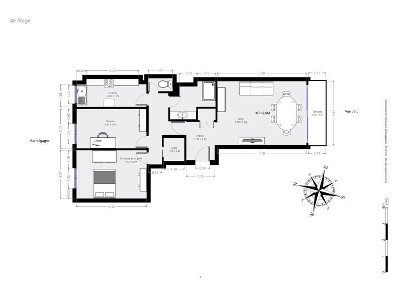 Venta  apartamento Paris 15ème 735000€ - Fotografía 9