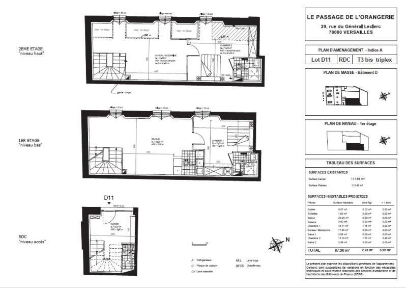 Sale apartment Versailles 966900€ - Picture 2