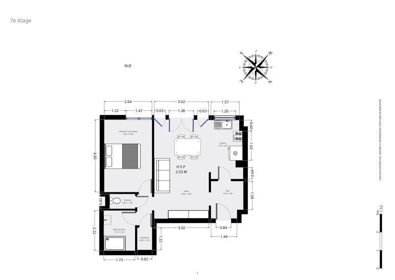 Vente appartement Paris 15ème 405000€ - Photo 8