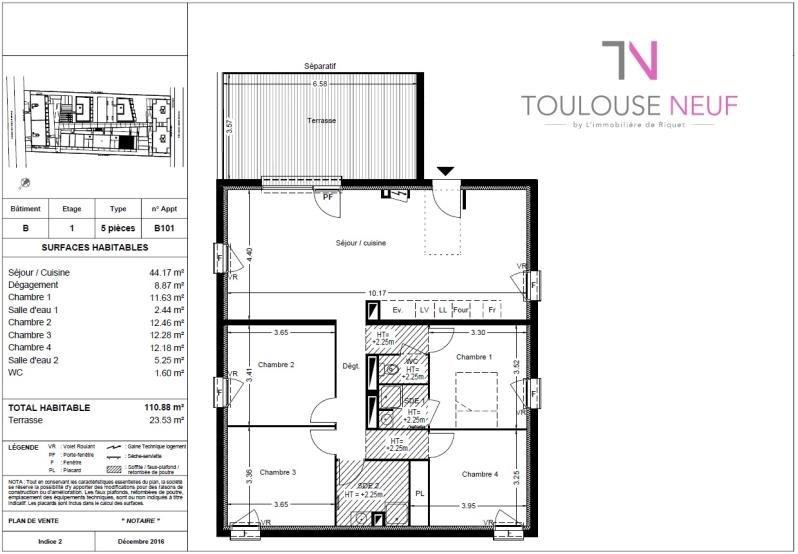 Vente appartement Balma 299000€ - Photo 9