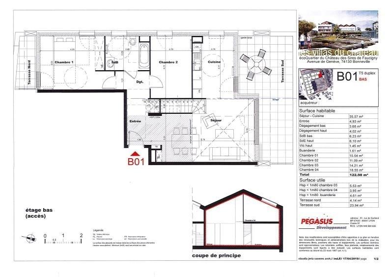 Sale apartment Bonneville 469500€ - Picture 3