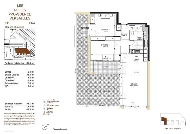 Vente appartement Versailles 705000€ - Photo 2