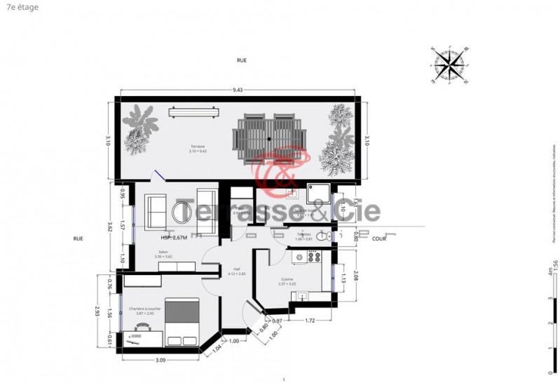 Sale apartment Paris 17ème 588000€ - Picture 7