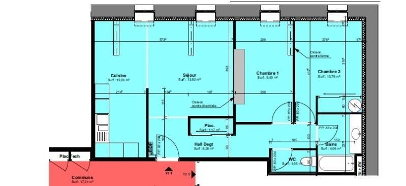 location appartement 3 pi ce s roanne 61 87 m avec 2 chambres 500 euros dugourd et game. Black Bedroom Furniture Sets. Home Design Ideas