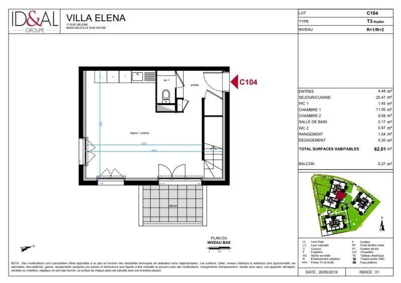 Investimento apartamento Neuville sur saone 250000€ - Fotografia 3
