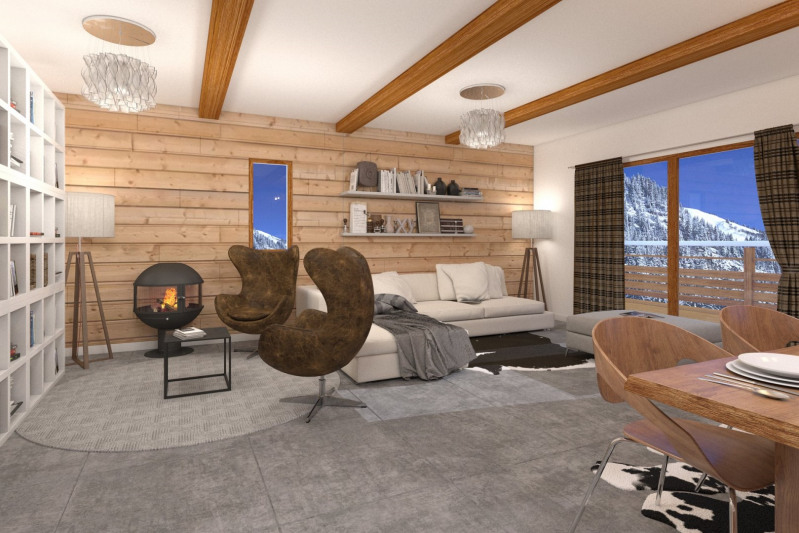 Châtel - Ski resort - Apartment of 91,71 sq. m - 3 bedrooms