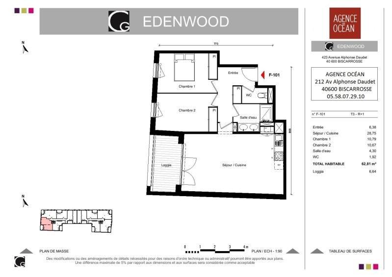 Vente appartement Biscarrosse 209500€ - Photo 2