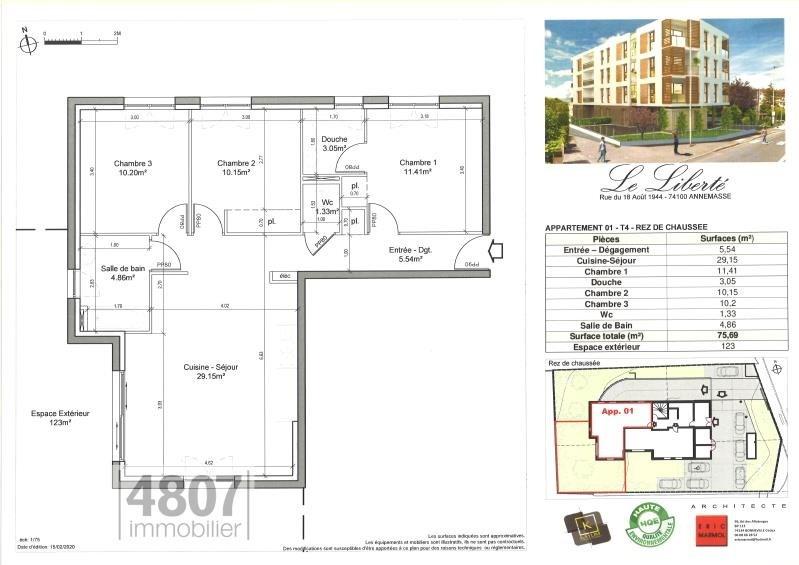 Produit d'investissement appartement Annemasse 295000€ - Photo 2