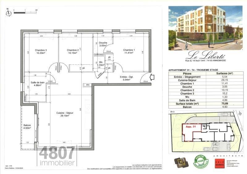 Produit d'investissement appartement Annemasse 320000€ - Photo 2