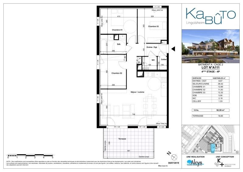 Sale apartment Lingolsheim 300000€ - Picture 2