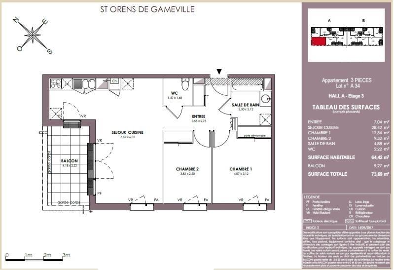 Vente appartement Saint orens 242000€ - Photo 7