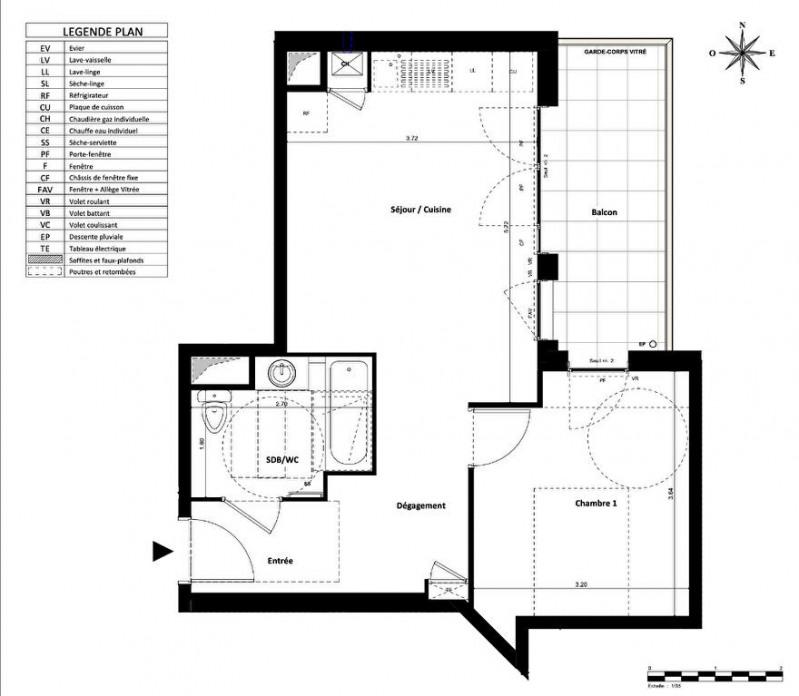 Sale apartment Villeurbanne 243000€ - Picture 2