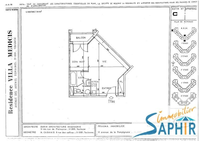 Sale apartment Toulouse 84 043€ - Picture 3
