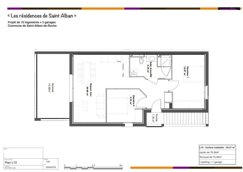 Vente appartement St alban de roche 185000€ - Photo 2