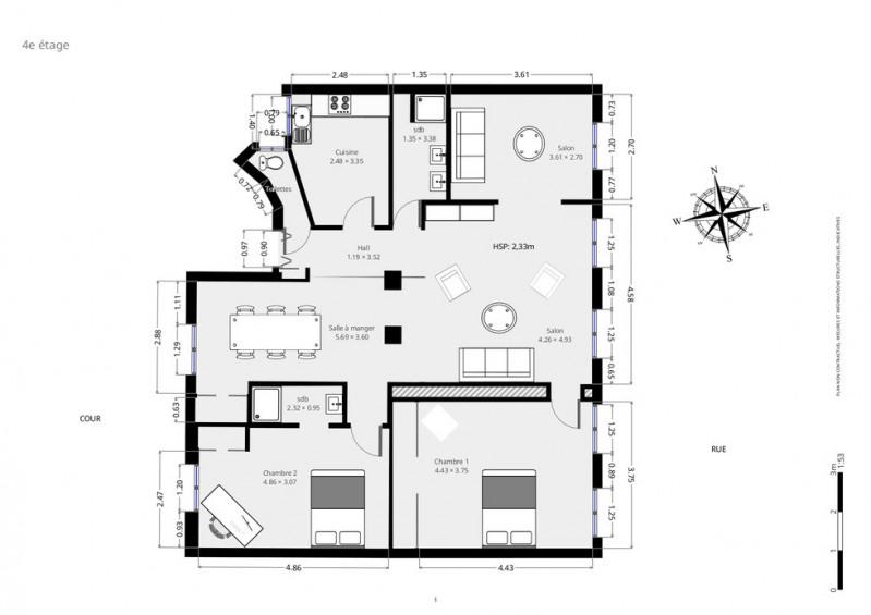 Vente de prestige appartement Paris 9ème 1240000€ - Photo 7