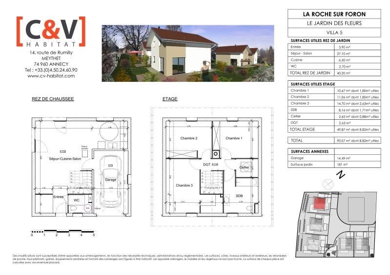 Vente maison / villa La roche sur foron 369900€ - Photo 1