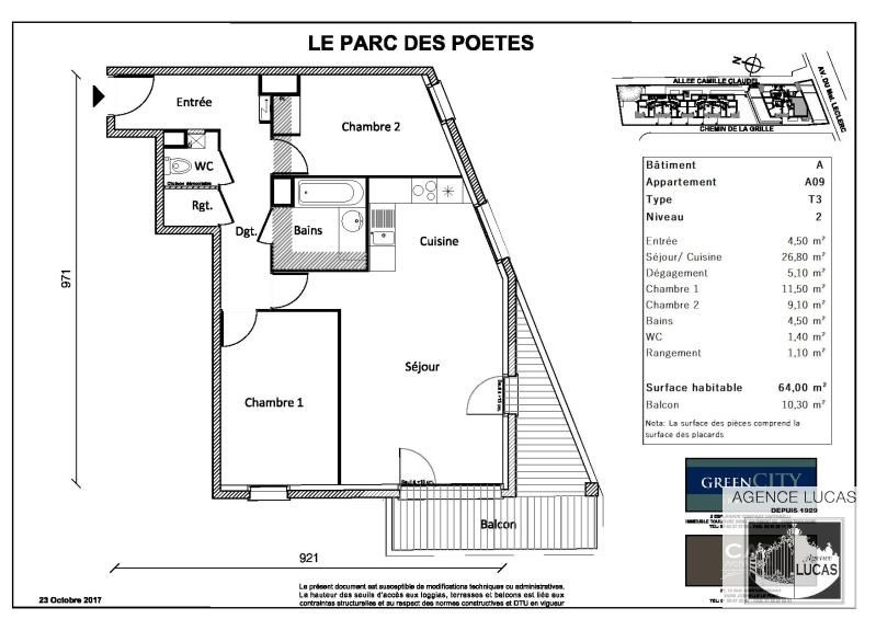 Rental apartment Neuilly sur marne 1005€ CC - Picture 2