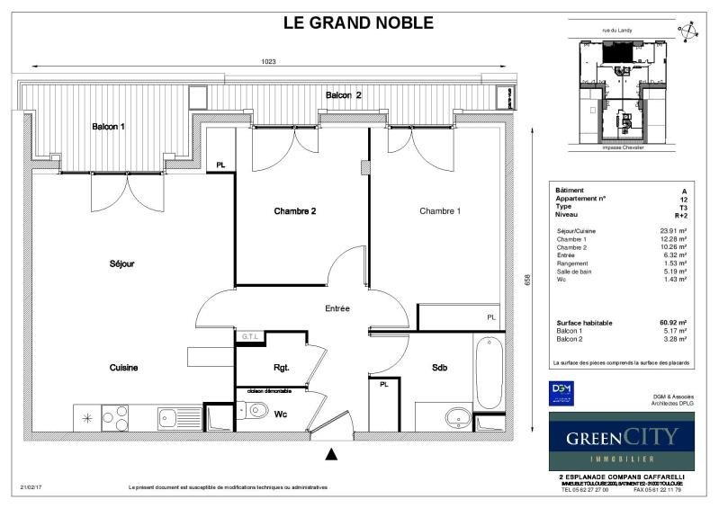 Rental apartment St ouen 1 195€ CC - Picture 2