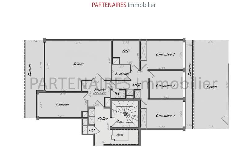Sale apartment Le chesnay 592000€ - Picture 11