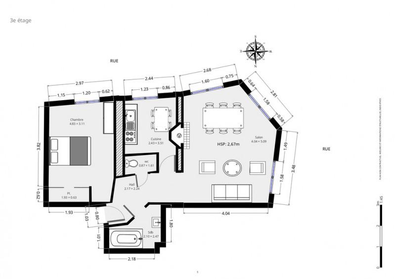 Vente appartement Paris 18ème 665000€ - Photo 8