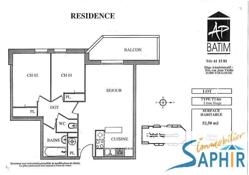 Sale apartment Toulouse 125080€ - Picture 3