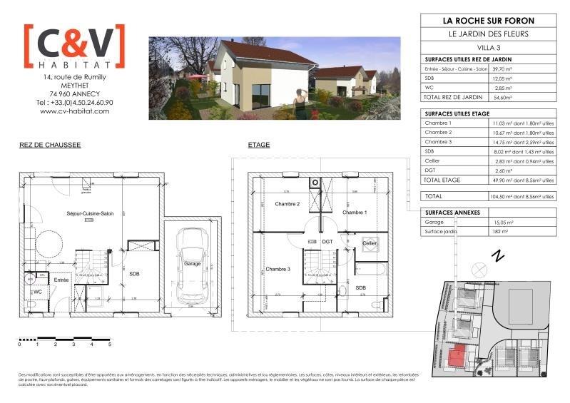 Vente maison / villa La roche sur foron 399900€ - Photo 3