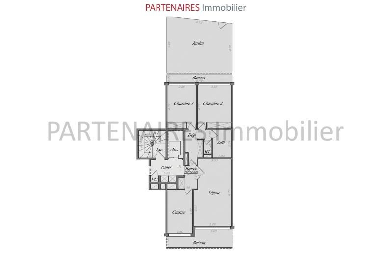Sale apartment Le chesnay 435000€ - Picture 6